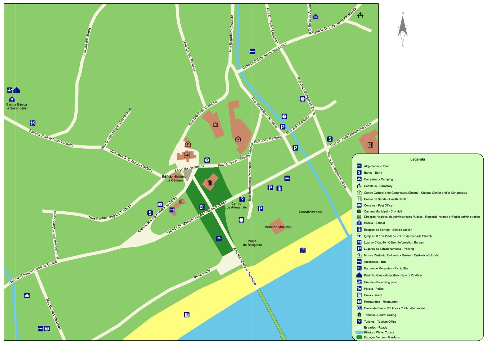 mapa porto santo ruas Mapa | Município mapa porto santo ruas